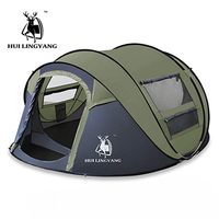 HUI LINGYANG Outdoor Automatic Tent Waterproof Camping Hiking Tent Throwing Pop Up 3 4 People Tents For Outdoor Camping Hiking