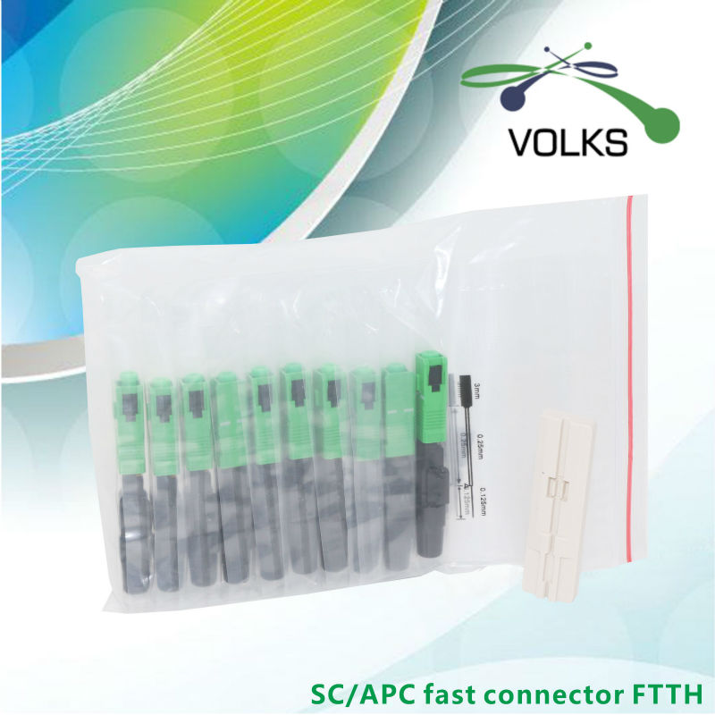 VOLKSTEC Pro Store FTTH Fiber Optic Fast SCAPC Connector FTTH Fast Connector 10pcs Free shipping