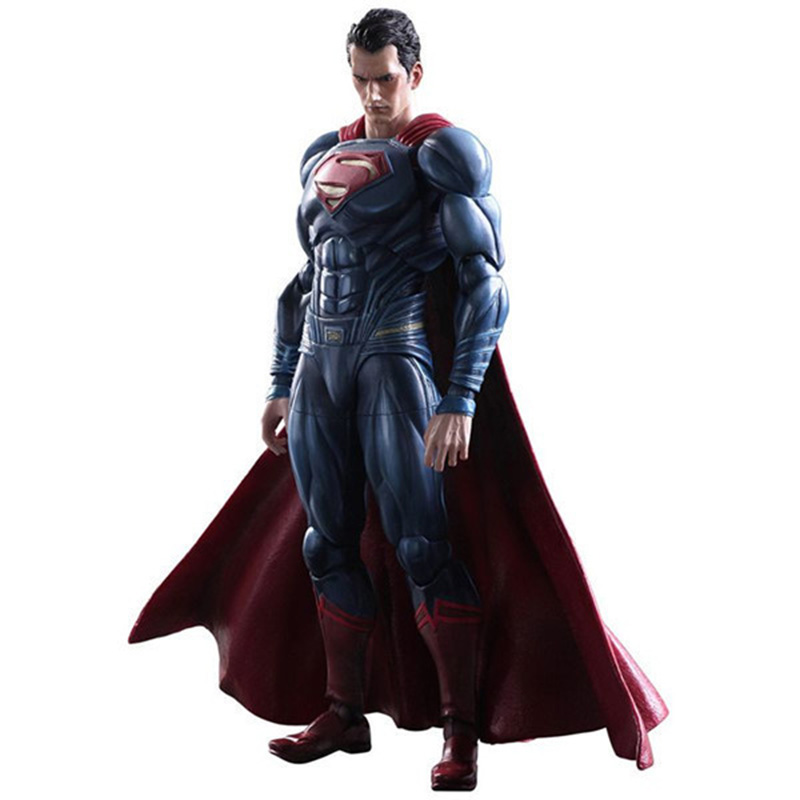ZXZ Anime Movie Superman Action Figure Playarts Kai Figurine Kids Hot Toys Collection Model Play Arts Kai Super Man Doll 25CM