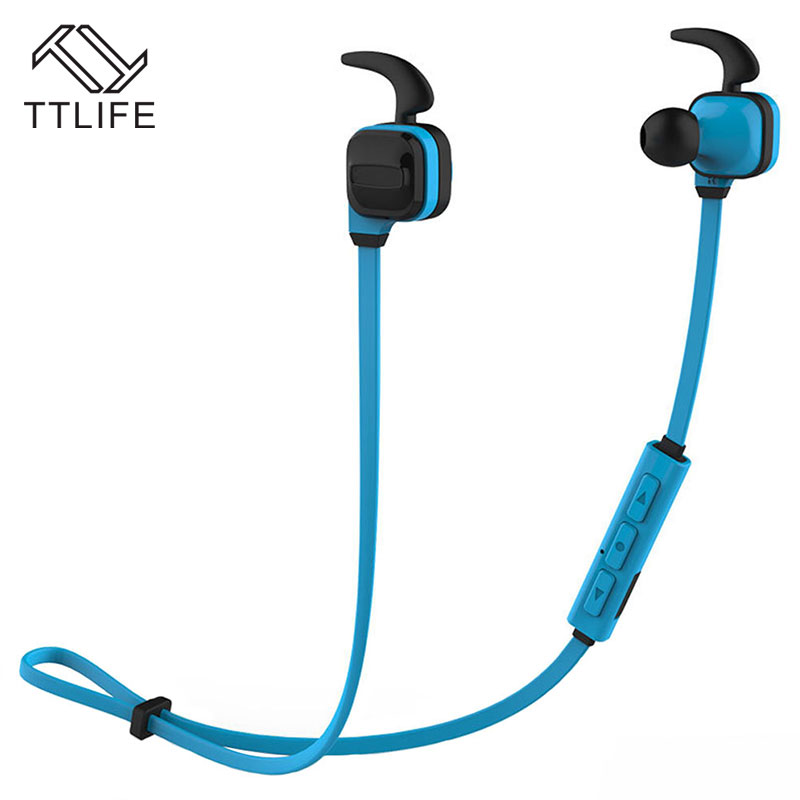 TTLIFE Noise Cancelling Bluetooth 4.1 Earphone Sweatproof Wireless Headphone Stereo Headset with Mic for iPhone 7 Xiaomi ttlife q26 stereo noise cancelling earphone ultra mini car calls bluetooth wireless headset with mic for iphone 7 android psp