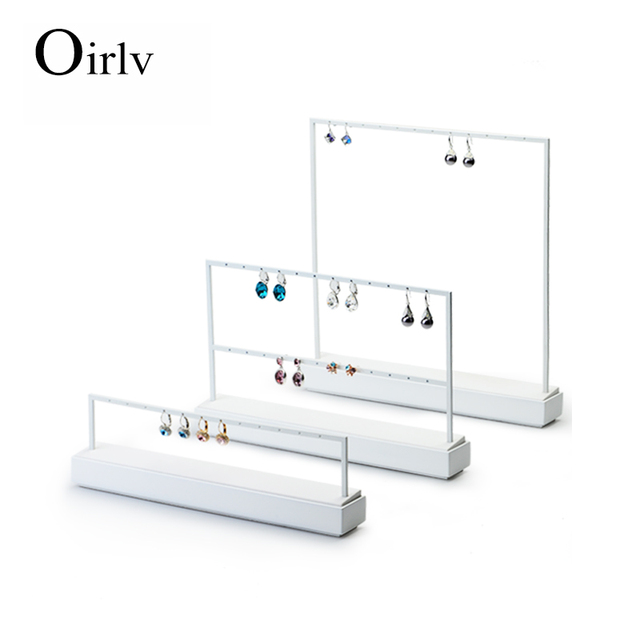 Oirlv Free Shipping High Capacity Metal Earrings Jewelry Display Rack For Ear Stud Earring Displays Stand Holder For Boutique