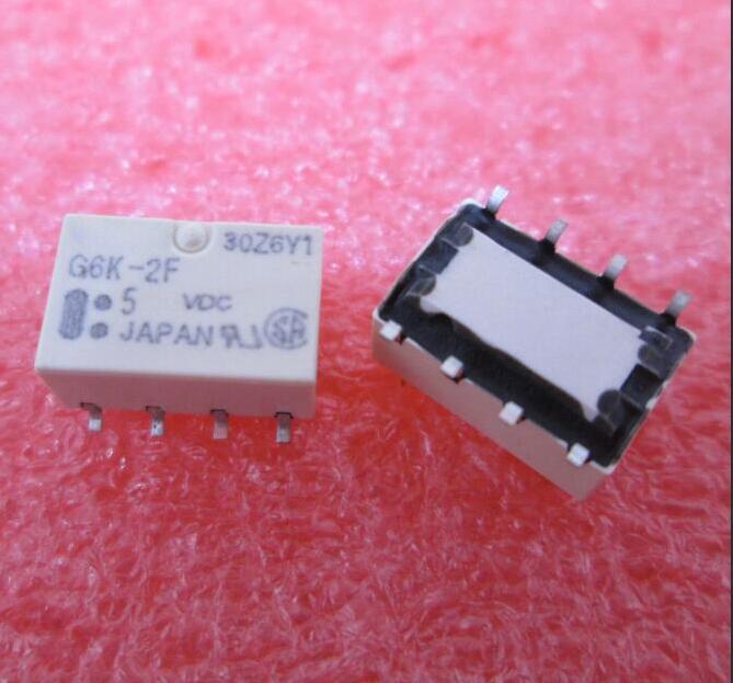 HOT NEW relay G6K-2F-5VDC G6K-2F 5VDC G6K-2F-5 G6K 2F  SOP8 hot new relay hf6 73 5v hf6 relays 5v 5vdc dc5v 5v sop 2pcs lot