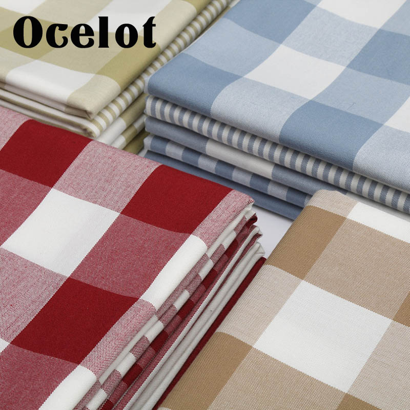 100*145CM DIY Fabric plaid bow for Tissue Kids Bedding home textile for Sewing Tilda Doll for Curtains Tablecloths Coasters