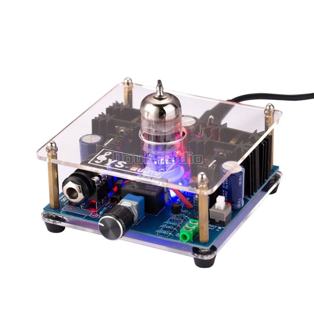 Mini Class A 12AU7 Vacuum Tube Multi-Hybrid Headphone Amplifier Stereo Pre-Amp Class A A ...