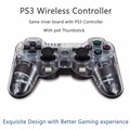 2pcs With PS4 Thumbstick design PS3 Controller for PlayStation 3 and and for Dualshock 3 Support vibaration and bluetooth
