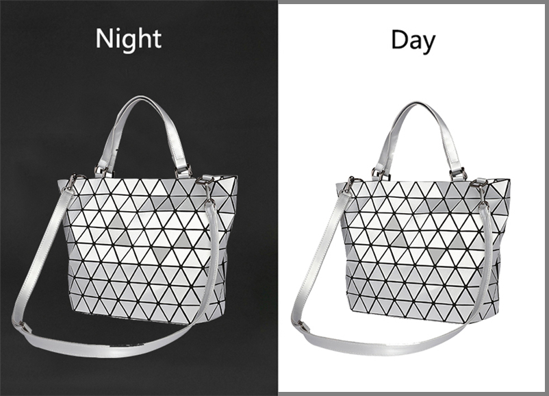 Nevenka Women Luminous Handbag Leather Shoulder Bag Women Geometric Handbags 2018 Large Tote Bag for Women Leather Crossbody Bag13