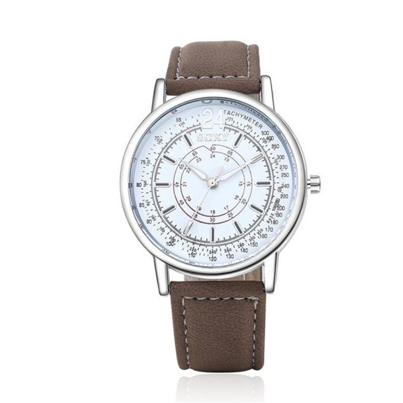 Reloj Hombre 2017 Casual Quartz-watch Leather Band Analog Buckle Military Wristwatch Women Mens Relogio Feminino #180717