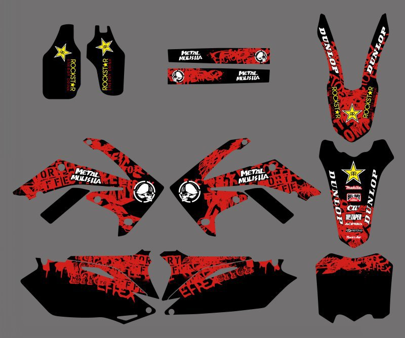 Motorcycle New Style Team Graphic Background Decal And Sticker Kit For Honda CRF250 CRF250R CRF450 <font><b>CRF450R</b></font> <font><b>2010</b></font> 2011 2012 image