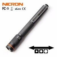 NICRON мини-фонарик 120LM 61 м Луч расстояние Водонепроницаемый IP65 1 Вт 2 АА Цвет матч пера дома факел Лампа B22 для обслуживания и т. д.