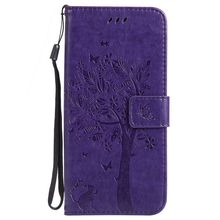 MuTouNiao Purple Leather Flip Case Cover For Samsung Galaxy S3 S4 S5 S6 S7 S8 S9 Edge Mini Plus I9300 I8190 I9190