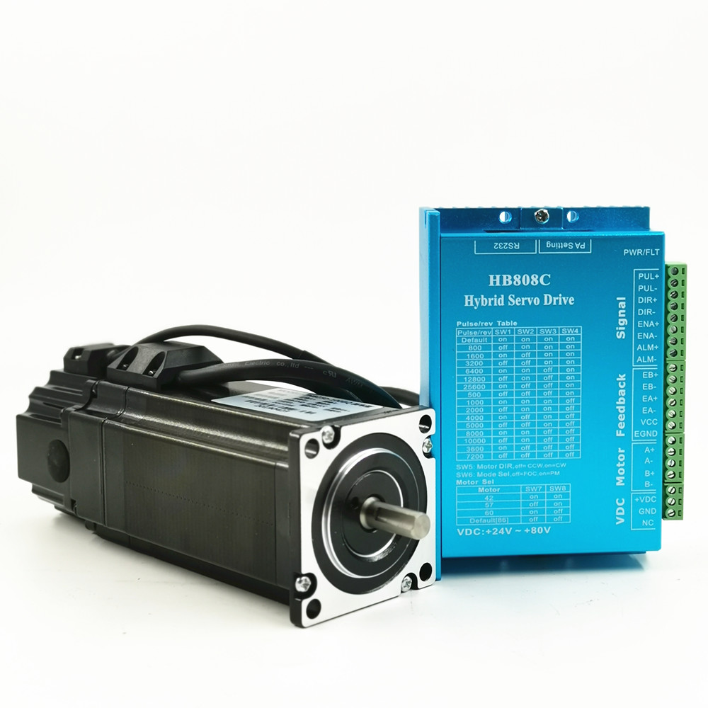 Nema 23 Closed Loop Stepper Motor 57HB250 kits 1.5N.m / 2.2N.m /3.2N.m  12-60V DC + HB808C Driver