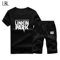 Tracksuit Men Clothes 2018 Summer T Shirt Shorts Letter Two Piece Set Causal Sportswear Sweatsuit Men
