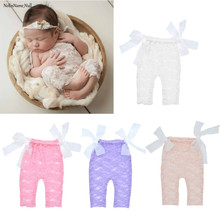 Newborn Sleeveless Lace Romper Playsuit Photography Props Accessories Infant Outfit Baby Girl Princess Jumpsuit Props Costumes