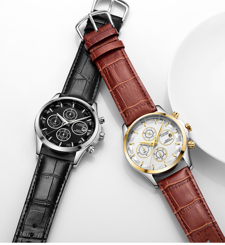 GUANQIN GS19112 watches men luxury brand quartz watch multi-functional men's watch trend sports luminous waterproof calendar 48