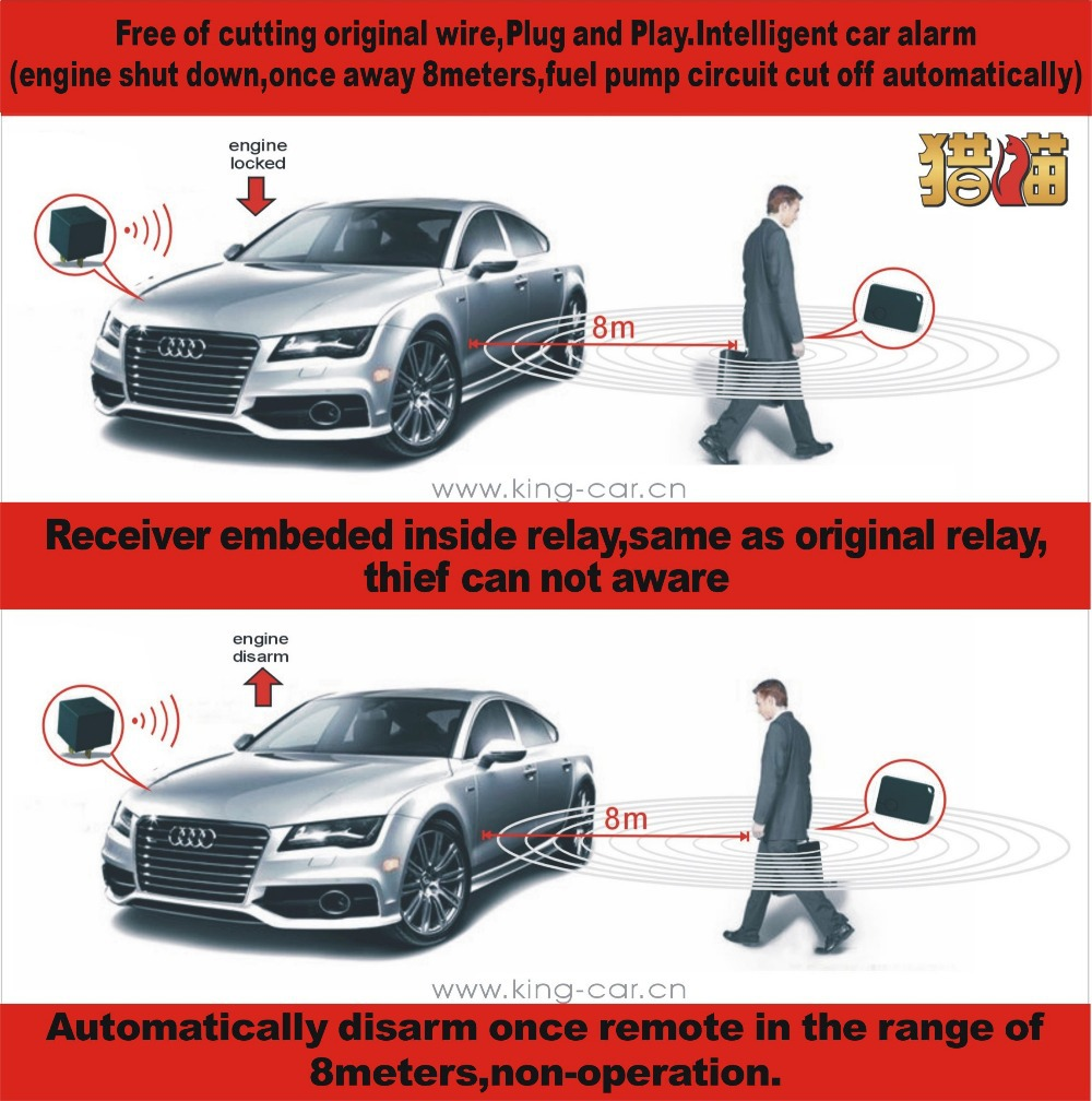 High Technology Free Shipping Easy Installation Rf Relay Engine Cut Electronicsdiycomcircuit And The Thief Rfid Immobilizer Car Alarm One Way Anti Theft Device In Tire Pressure From