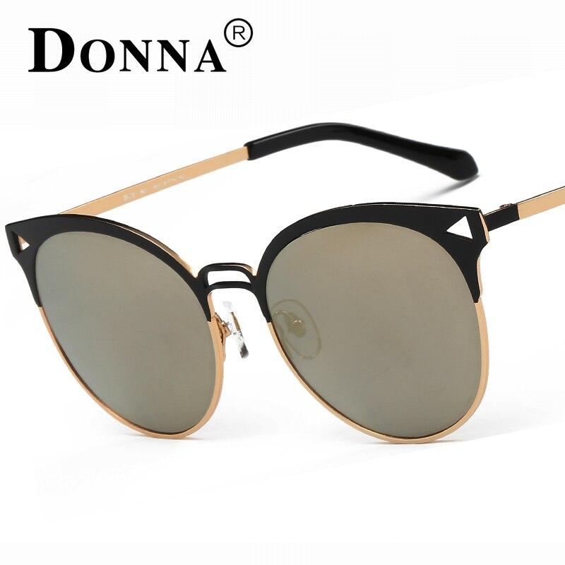83b364b7af0cd Donna Quadro Do Gato Olho Óculos De Sol Mulheres Polarizada Óculos Meia  Moldura de Espelho Oval Rodada Marca Designer Óculos Oversized D26