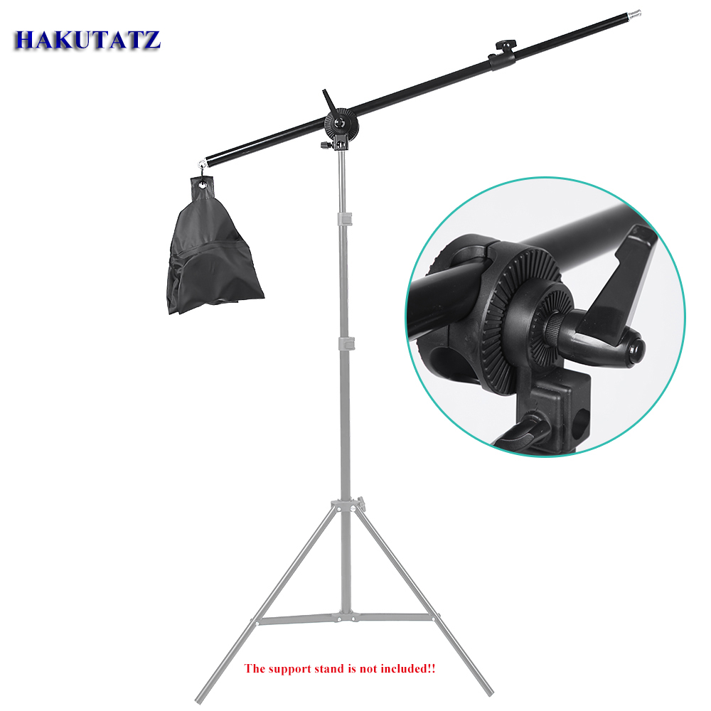 76-143CM Photo Studio Boom Arm Top Light Stand With Weight Bag Kit Photo Studio Accessories Extension Rod HG-76