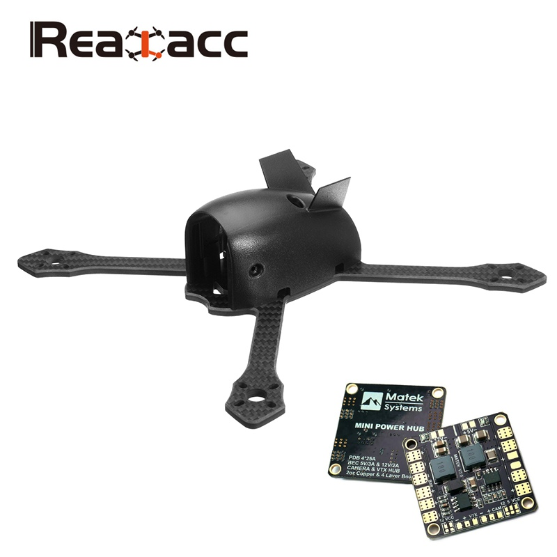 Original Realacc Flyingmouse 210mm Wheelbase 4mm Arm Carbon Fiber DIY FPV Racing Drone Frame Kit 78g with PDB Board for RC Drone