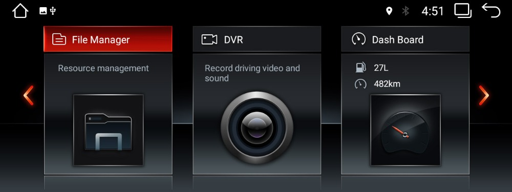 BMW ID6 UI on android stereo 3