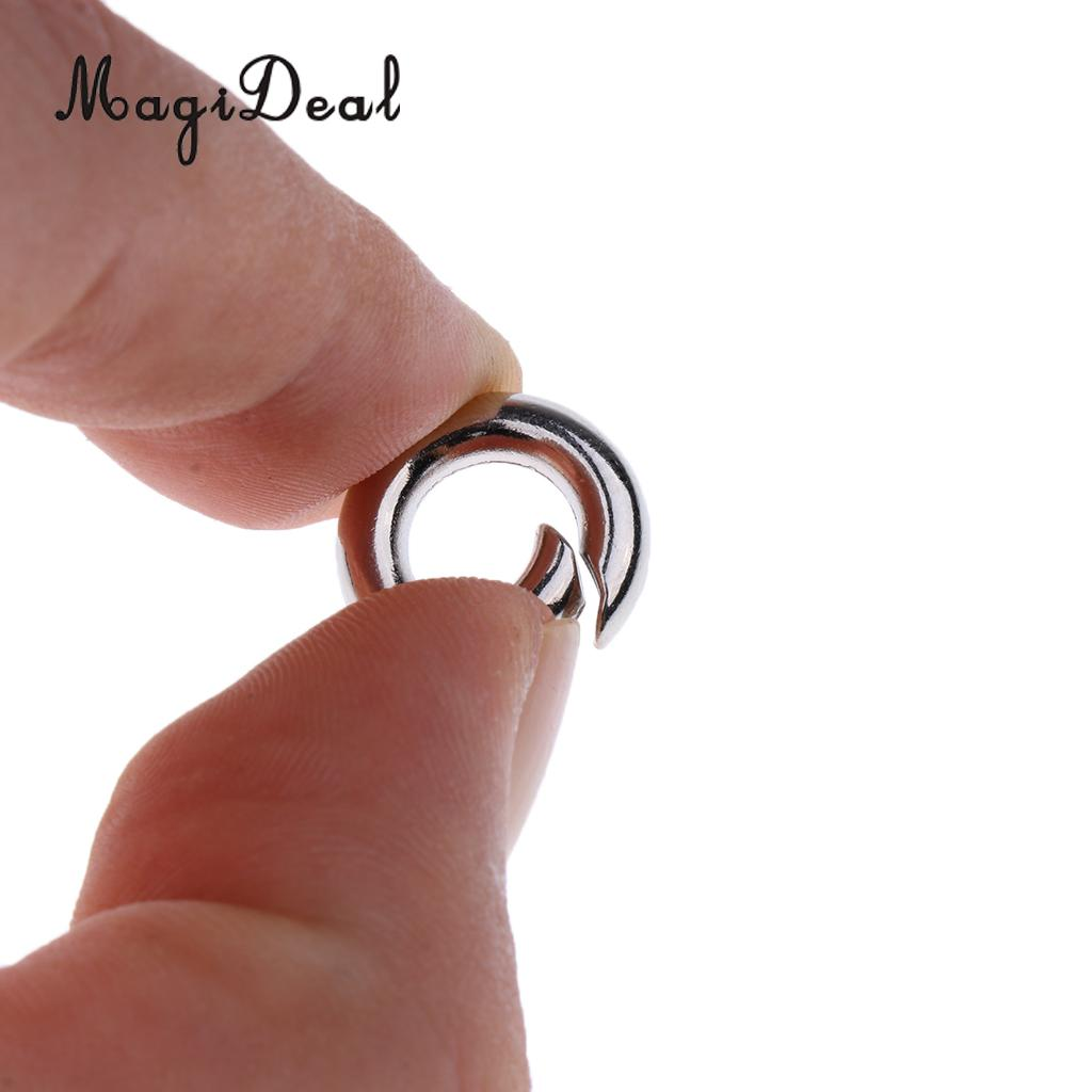 5Pcs Push Gate Snap Open Hooks Spring Ring Clasp Keychain Carabiner for Camping
