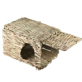 Handcraft Woven Grass Hamster Nest Small Pet Rabbit Hamster Cage House Chew Toys Foldable Pig Rat Hedgehogs Chinchilla Bed 3