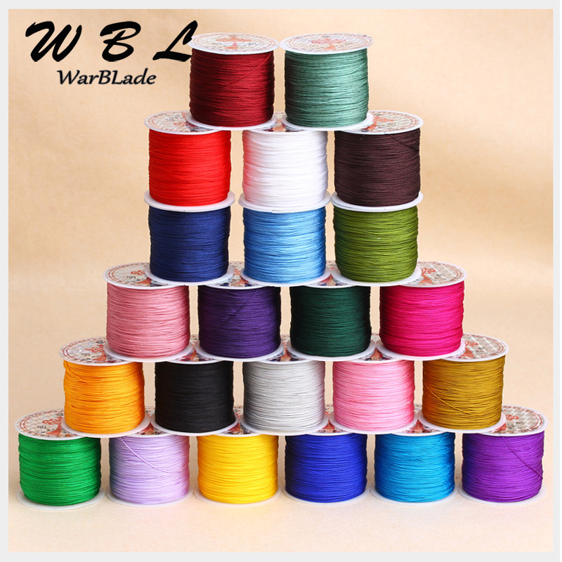 100M 0.8mm 1mm 1.5mm 2mm Nylon Cord Jewelry Making Accessories Cotton Cord Thread String DIY Tassels Beading Braided Bracelet