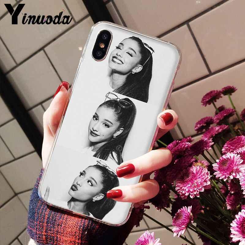Yinuoda Ariana Grande DIY Luxury High-end Protector สำหรับ iPhone 5 5Sx 6 7 7plus 8 8 plus X XS MAX XR