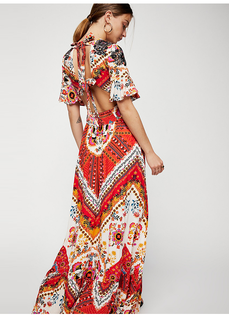 fa8fd5b7c68 2018 casual maxi dress summer women Party Dresses Long Elegant gala print  plus size desigual elbise tunic female beach clothes-in Dresses from Women s  ...