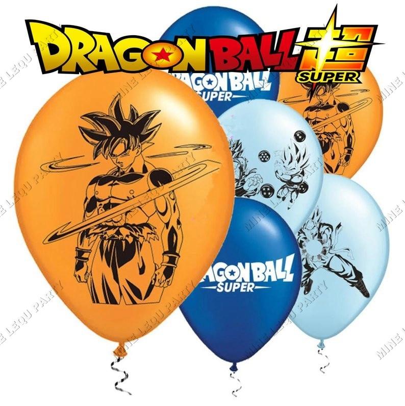 Festa de aniversário dragão bola tema goku látex balão dragon ball globos festa de aniversário decoração crianças brinquedos 12 pçs
