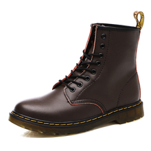 Brand Men's Boots Martens Leather Winter Warm Shoes Motorcycle Mens Ankle Boot Martins Men Oxfords Plus Sizes 38-46