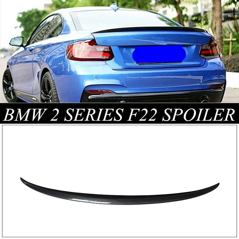 MONTFORD Carbon Fiber Rear Spoiler Wing For BMW F22 F23 218i 220i 228i M235 2 Series F22 & M2 F87 2014 2015 2016 2017 unpainted rear roof lip spoiler wing for bmw e87 e81 2004 2011