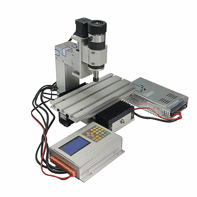 CNC 1010 3 Axis Mini Vertical CNC Router 100*100mm Wood Milling Machine 400w Spindle
