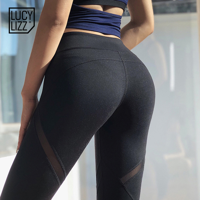 da631b6d095573 Lucylizz Mesh Booty Shaping Sport Leggings Fitness Women Breathable Yoga  Pants Gym Leggings Jogging Femme Running Pants-in Yoga Pants from Sports ...