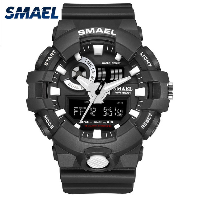 2017 New Sport Watch Smael Brand Wristwatches Fashion Casual Dual Time LED Clock