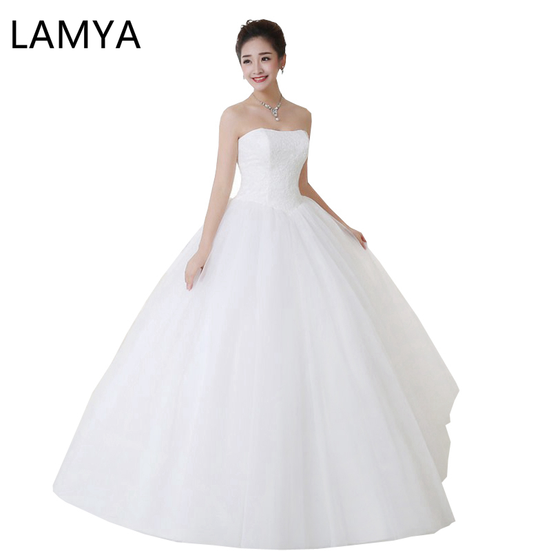Lamya  New Pregnant Wedding Dress Sex Vintage Bridal Ball Gown With Sparkle Sequins Lace Edge Party Dress
