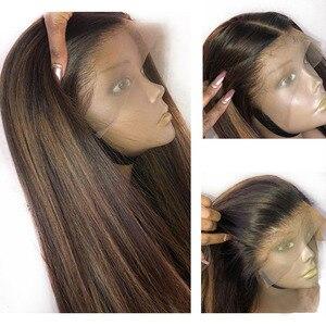 Eversilky #4 27 Омбре блонд 13x6  13x3 кружева спереди человеческие волосы парики для женщин 360 кружевных фронтальных париков бразильские тела волнис...