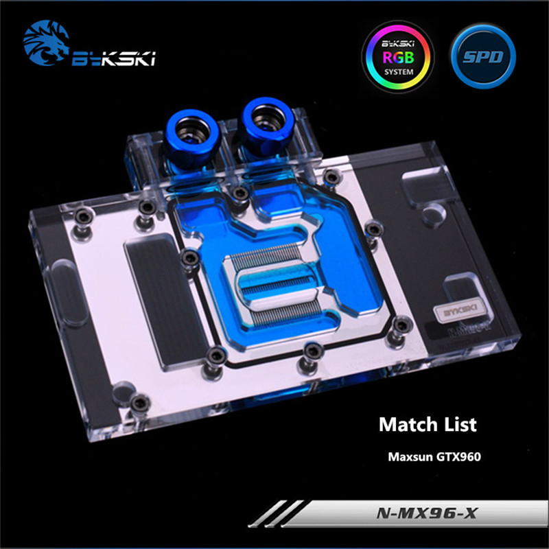 Bykski Full Coverage GPU Water Block For Maxsun GTX960 Graphics Card N-MX96-X bykski full coverage gpu water block for maxsun gtx1080 super jetstream graphics card n mx1080sjm x