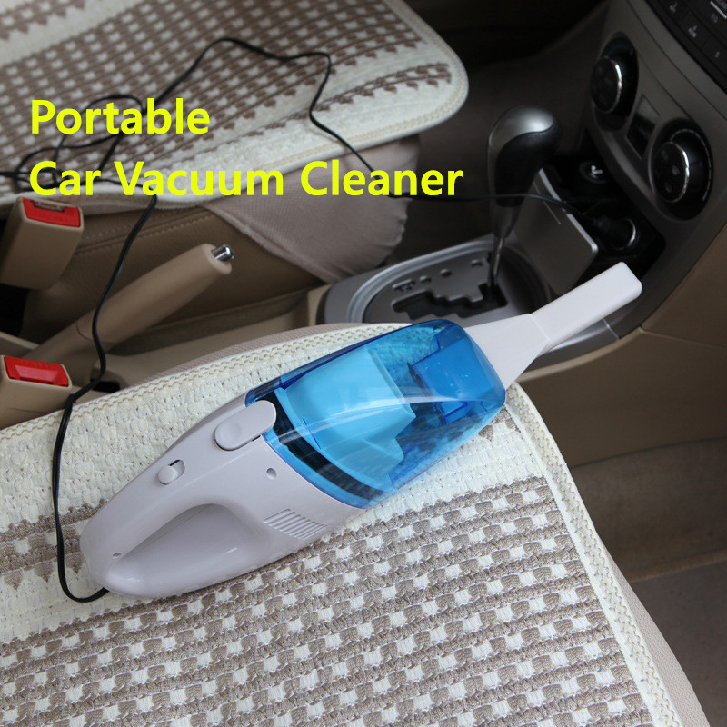 Portable 12V Car Vacuum Cleaner Car Styling Auto Cleaner 60W High Suction Mini Car Vaccum Cleaner DC Interface Adapter Free Ship