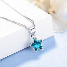 Новые модные подвески из голубого камня с пятиконечной звездой