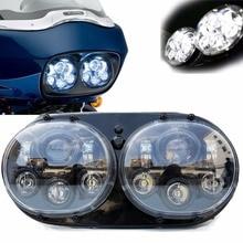 Точечный одобренный 90 Вт двойной светодиодный проектор для фар с дальним/низким лучом для мотоцикла Harley Motocycle Road Glide 2004 2013