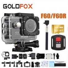 Goldfox F60/F60R Action Camera 4 K WiFi 30fps 170D Capacete Da Bicicleta Cam 16MP 30 M Ir À Prova D' Água Pro Extreme Sports câmera DV
