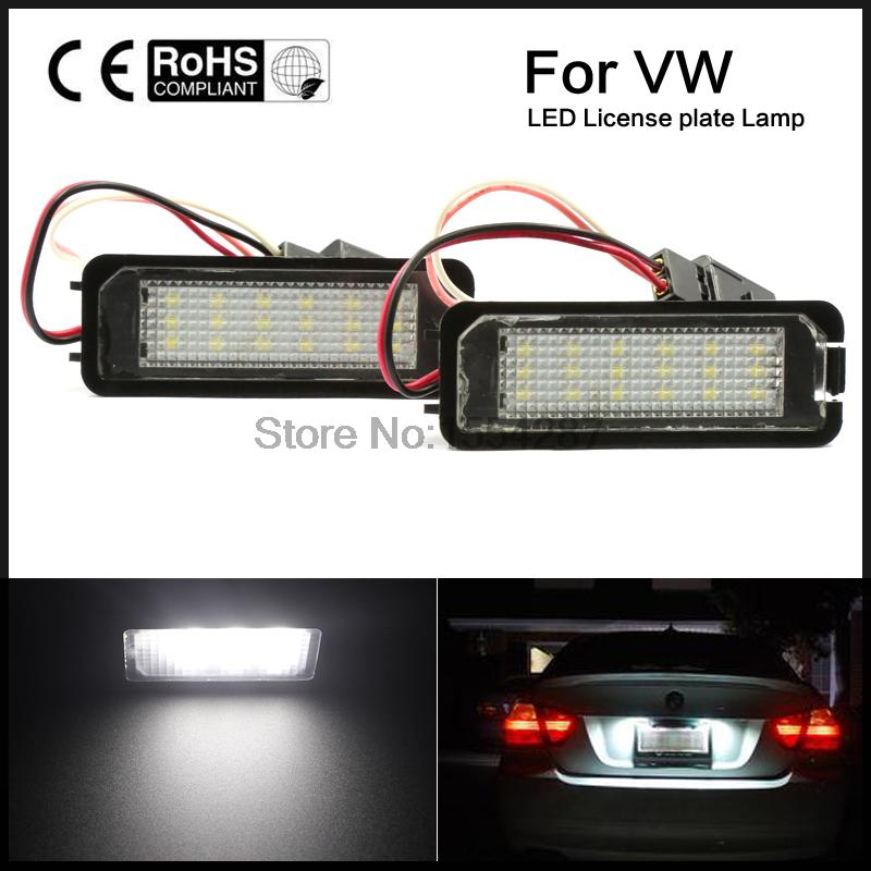 2X Canbus auto light Golf 5 Golf6 Golf 7 golf led license plate light tail light car styling for VW MK5 GTI Golf7 2pcs 12v 31mm 36mm 39mm 41mm canbus led auto festoon light error free interior doom lamp car styling for volvo bmw audi benz