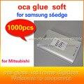 1000 unids s6edge g9250 OCA adhesiva de doble cara etiqueta engomada del pegamento para g9250 s6edge ''200um grueso para el Mit para formitsu lcd pantalla