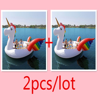 2pcs/lot Over 9 Feet tall Giant Inflatable Unicorn Float Flamingo Island pool float with CE certifications