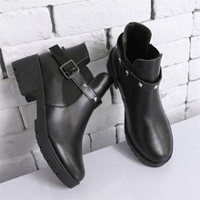 Mhysa 2019 Women Martin Boots Autumn Female Casual Shoes Woman Flat Fashion Rive