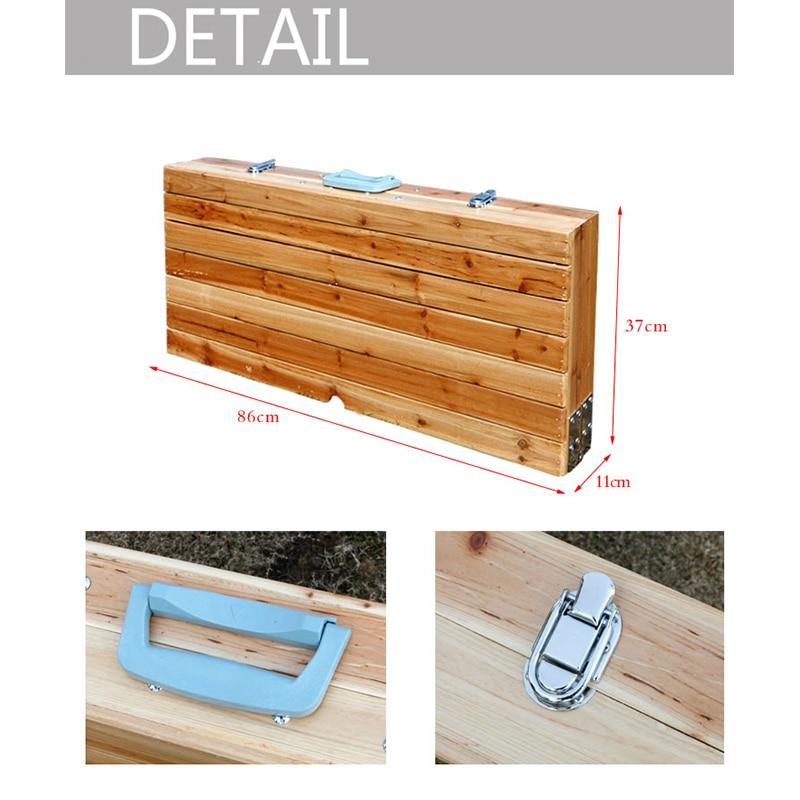 lätt att ta bärbar aluminiumlegering vika picknickbord med fyra - Möbel - Foto 3