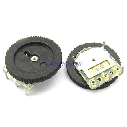 5pcs/lot Double Gear tuning potentiometer B503 50K 5Pin 16*2mm Dial Potentiometer image