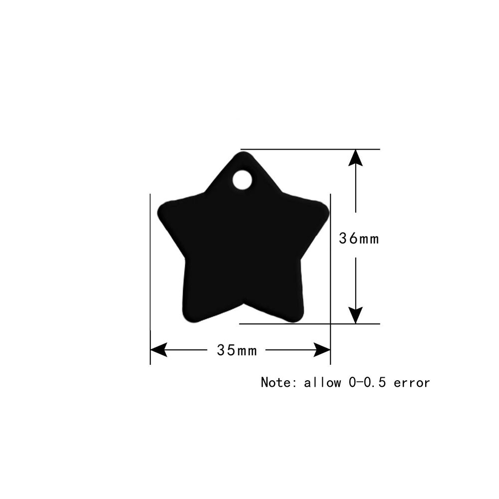 hight resolution of cthold 100pcs blank dog tag wholesale engraved tag pet id tags for dog accessories custom dog name star identification tag in id tags from home garden on