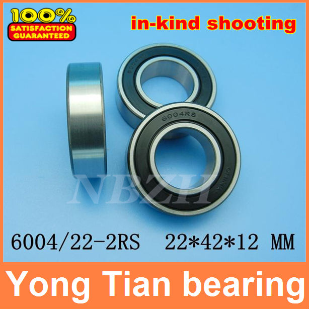 10PCS Free Shipping Excavator bearing 6004 2RS 6004/22-2RS 22*42*12mm Double Shielded Deep Ball Bearings Large breadth 10pcs 688zz double shielded ball bearings 8x16x5mm metal miniature ball bearing for harware accessories
