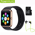 2017 hot torntisc gt08 smart watch phone support tf tarjeta sim mp3 cámara 0.3mp bluetooth sync notificador reloj para apple android os